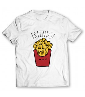 Friends Fries printed graphic t-shirt