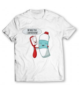 Toothbrush printed graphic t-shirt