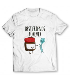 best friends forever printed graphic t-shirt