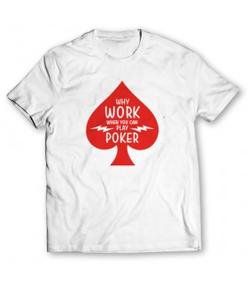 play poker printed graphic t-shirt