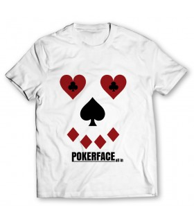 pokerface printed graphic t-shirt