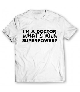 a doctor printed graphic t-shirt