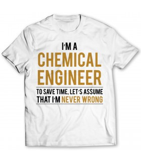 chemical engineer printed graphic t-shirt