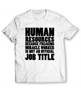 human resources printed graphic t-shirt