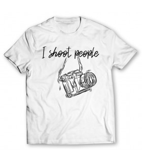 i shoot people printed graphic t-shirt
