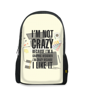 graphic designer printed backpacks