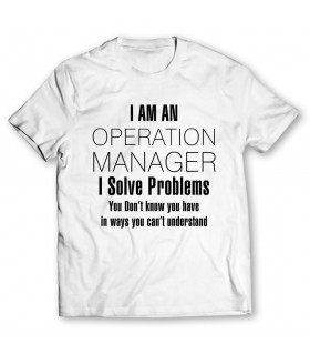 operation manager printed graphic t-shirt