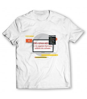 programmer printed graphic t-shirt