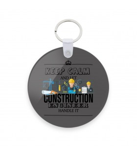 construction printed keychain