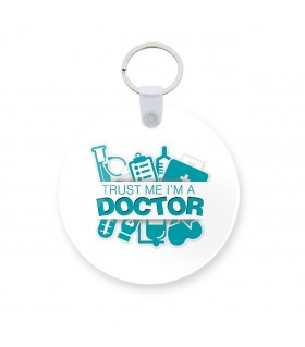 doctor printed keychain