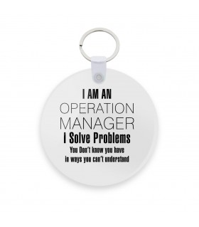 operating manager printed keychain