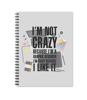 graphic designer printed notebook