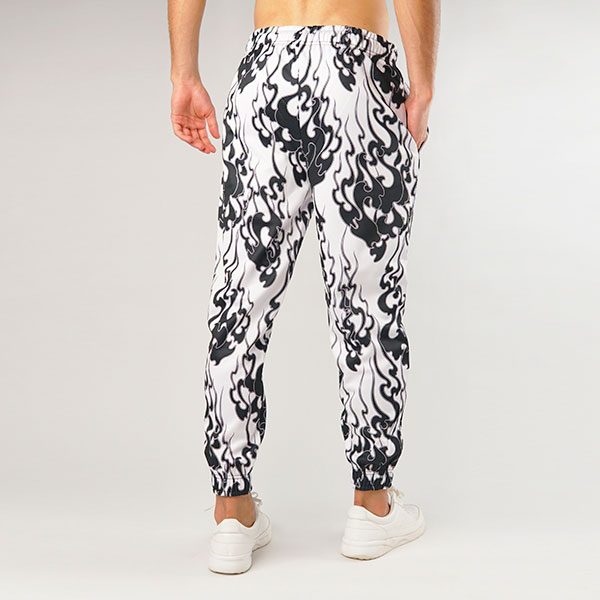 Flames All Over Black MEN JOGGER PANT