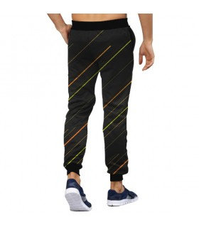 abstract lines art jogger pant