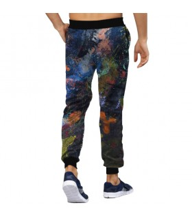 paint abstract jogger pant