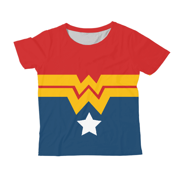 Wonder Woman KIDS ALL-OVER PRINT T-SHIRT