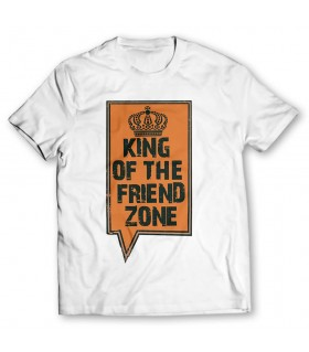 king of the friendzone printed graphic t-shirt