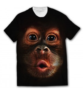 Monkey face all over printed t-shirt
