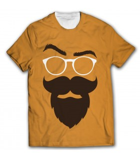 no shave november all over printed t-shirt