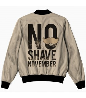 no shave november all over printed jacket
