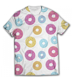 Donuts all over printed t-shirt