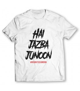 hai jazba junoon printed graphic t-shirt