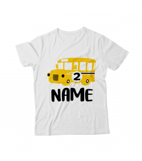 BIRTHDAY PERSONALIZED PRINTED KIDS GRAPHIC T-SHIRT