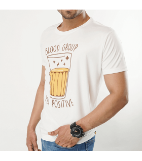 tea positive printed graphic t-shirt
