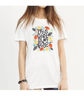 This Girl Is On Fire UNISEX GRAPHIC T-SHIRT