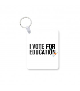 i vote for education printed keychain