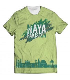naya pakistan all over printed t-shirt