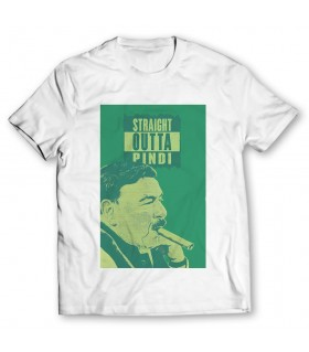 straight outta  pindi printed graphic t-shirt