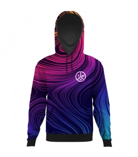 psychedelic art all over printed hoodie