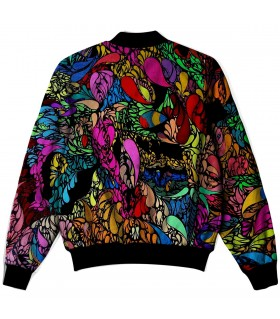 psychedelic art all over printed jacket