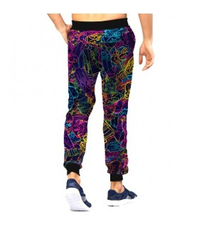 psychedelic art jogger pant