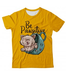 Be Pawsitive all over printed t-shirt