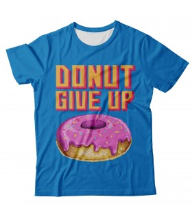 Donut Give Up all over printed t-shirt