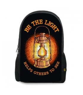 Be The Light printed backpacks
