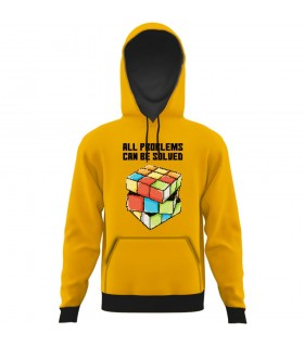 Rubik all over printed hoodie