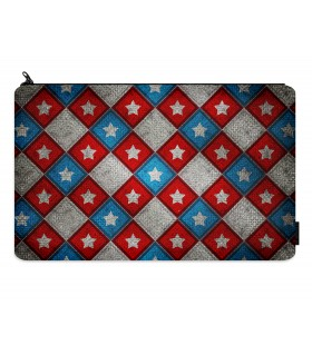 captain america printed pencil case
