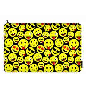 emoji printed pencil case