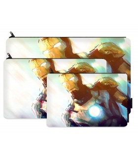 iron man printed pencil case