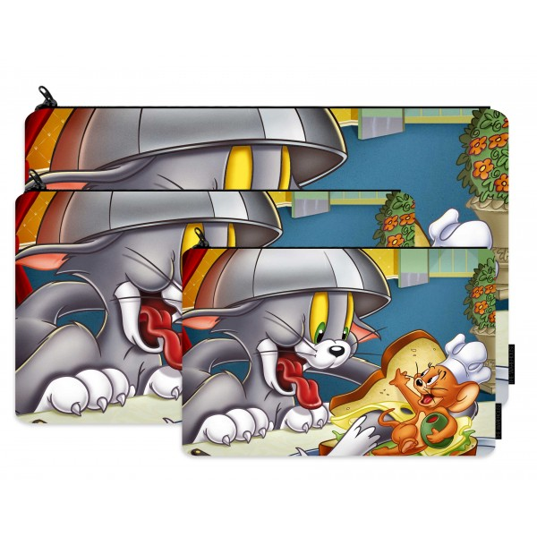 tom and jerry printed pencil case