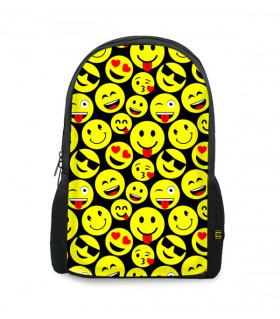 emoji printed backpacks