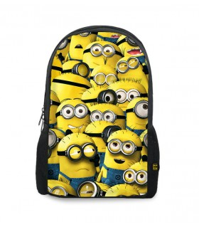 minions printed backpacks