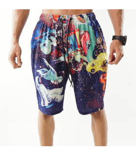 psychedelic printed shorts