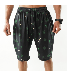 weed joint printed shorts