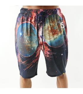cat in the galaxy printed short
