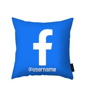 Facebook handle Printed Pillow