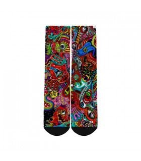 Trippy Drawing printed socks